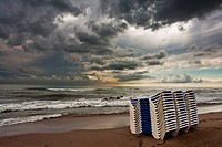 Beach of Castelldefels Barcelona Spain