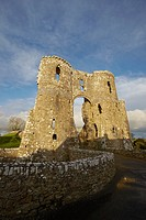Llawhaden Castle, Pembrokeshire, West Wales, UK