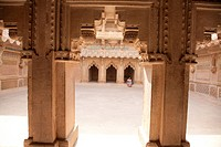 Fort of Inner courtyard in the Man Singh Palace, Gwalior, Madhya Pradesh, India