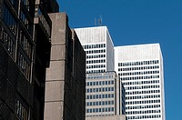Canada, Quebec, Montreal. Modern highrise office towers in downtown area