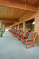 Outdoor Chairs on a Deck