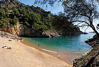 Cala Pola, Tossa de Mar, Costa Brava, Catalonia, Spain, Europe