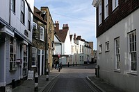 Beer Cart Lane Canterbury Kent The Chaucer Bookshop on left