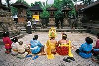 Asia, Indonesia, Bali. Balinese wedding ceremony.