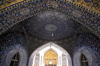 Mosaic work on an entrance of the Imam Al_Hussein Shrine, Karbala, Karbala Province, Iraq