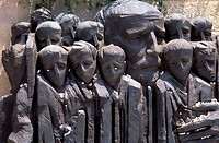 Detail of the Yad Vashem memorial sculpture, Jerusalem, Israel