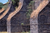 External walls of the Church of San Agustin, Luzon Island, Ilocos Norte, Philippines