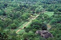 View towards Dambulla from Sigiriya Rock, North Central Province, Sri Lanka