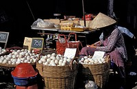 Egg vendor at the market, Ho Chi Minh City Saigon, Vietnam