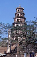 Thap Phuoc Duyen Tower at the Thien Mu Pagoda, Hue, Thua Thien_Hue, Vietnam