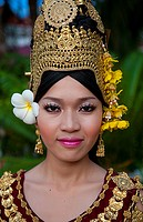 Dancer in traditional native costume in Siem Reap, Cambodia