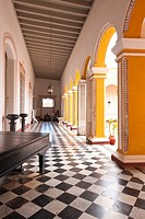 Trinidad, Cuba. Interior of the Palacio Brunet houses Museo Romantico, UNESCO World Heritage Site.