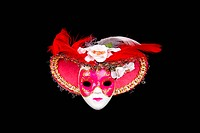 Painted Venice mask isolated on black background