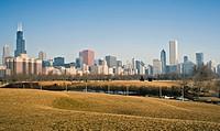 Winter panorama of Chicago