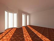 Empty room. 3d