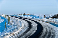 Road curve winter