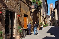 Pienza, Val d´Orcia, Orcia Valley, UNESCO world heritage site , Siena Province, Tuscany, Italy.