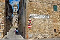 San Quirico d´Orcia, Val d´Orcia, UNESCO World Heritage Site, Siena Province, Italy