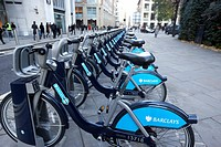 barclays cycle hire in the city of london england united kingdom uk