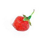 Strawberry in icecream