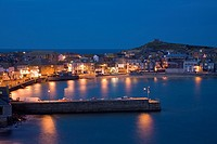 The Harbour at night, St Ives, Cornwall, England