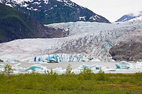 Mendenhall Glacier, Juneau, Alaska, USA