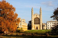 Kings College Chapel in Autumn, Cambridge, England, UK