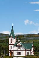 The village church, Husavik, Iceland