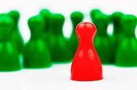 Red and green tokens.Manager and leader of the team.
