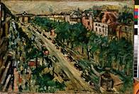 Berlin. Unter den Linden. Corinth, Lovis (1858-1925). Oil on canvas. Expressionism. 1922. State M. Ciurlionis Art Museum, Kaunas. 56,5x80. Painting.