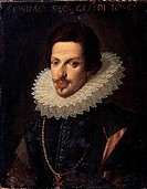Portrait of Grand Duke of Tuscany Cosimo II de' Medici (1590-1621). Sustermans, Justus (Giusto) (1597-1681). Oil on canvas. Flemish Painting of 16th-1...