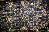 Mosaic in Mausoleum of Galla Placidia 430, UNESCO World Heritage site, Ravenna, Emilia_Romagna, Italy