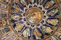 Mosaic in Baptistry of Neon Battistero Neoniano, Orthodox Baptistry, UNESCO World Heritage site, Ravenna, Emilia_Romagna, Italy