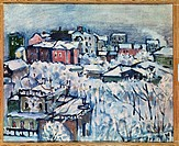 Winter day. Smolensky boulevard. Kandinsky, Wassily Vasilyevich (1866-1944). Oil on canvas. Expressionism. c. 1916. State Tretyakov Gallery, Moscow. 2...