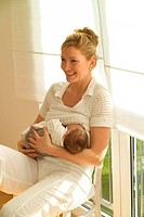 woman _ baby breast feeding _