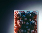 Raspberries and currants deep_froze currants _ ribes rubrum _ _ raspberries _ rubus idaeus _ contain manganese c_vitamin of Manesium and irons _ iron ...