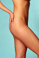 Act _ young adult woman _ stomach legs butt