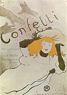 Confetti (Poster). Toulouse-Lautrec, Henri, de (1864-1901). Colour lithograph. Postimpressionism. 1893. State A. Pushkin Museum of Fine Arts, Moscow. ...