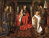 The Madonna with Canon van der Paele. Eyck, Jan van (1390-1441). Oil on wood. Early Netherlandish Art. 1436. Groeningemuseum, Bruges. 122x157,8. Paint...