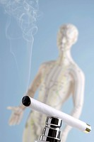 Moxibustion _ cigar and acupuncture doll