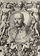 Portrait of Grand Duke of Tuscany Cosimo I de' Medici (1519-1574). Carracci, Agostino (1557-1602). Etching. Mannerism. 1586. Private Collection. 27,3×...