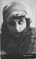 Vera Kholodnaya, Russian silent film actor. Anonymous . Photograph. 1916. Private Collection. Opera, Ballet, Theatre,Portrait