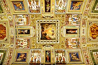 Rome, Italy  Paintings on the ceiling of the Vatican Museums