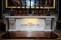 Rome, Italy  The Altar and tomb of Pope John Paul II