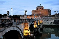 Rome, Italy  The Mausoleum of Hadrian, usually known as the Castel Sant'Angelo, is a towering cylindrical building in Parco Adriano