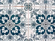 Old tiles on building wall, San Telmo, Buenos Aires, Argentina