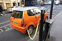 electric car charging point london england uk united kingdom