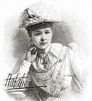 Natalia Janotha, aged 20, 1856 – 1932  Polish pianist and composer  From The Strand Magazine published 1894
