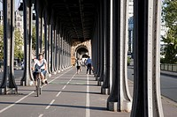 Pont de Bir Hakeim Bridge in Paris, France