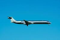 A Passenger jet plane landing